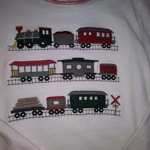 Janie and Jack train shirt